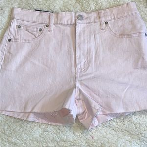 31 12 GAP Denim Shorts High Rise Cut Offs Pink